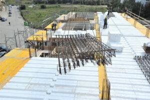 Montaggio trave MTR® T su cassero - Struttura miste acciaio calcestruzzo