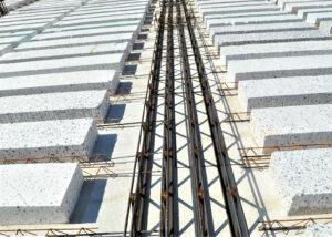 Travi tralicciate MTR® T - Struttura miste acciaio calcestruzzo - Solaio predalles